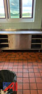 Niagara Stainless Steel Counter with Cabinet