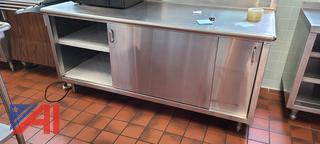 Stainless Counter with Cabinet