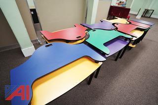 Laminated Puzzle Desks