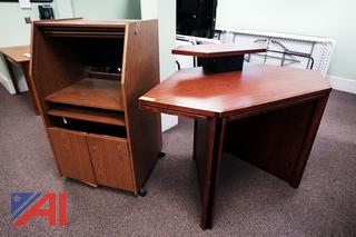 Vertical Computer Cabinet & Computer Table