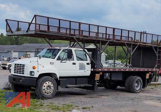 2000 GMC 8500 Bridge Inspection Stake Rack Truck