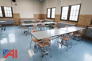 10' Roll & Fold Cafeteria Tables