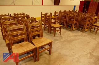 (#2) Vintage Stickley Small Wooden School Desk Chairs