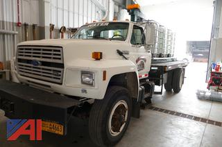 1993 Ford F800F Flat Bed Water Truck