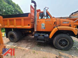 (#8) 1988 White GMC Brigadier Dump Truck