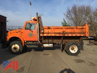 2000 International 4800 Dump Truck with Plow