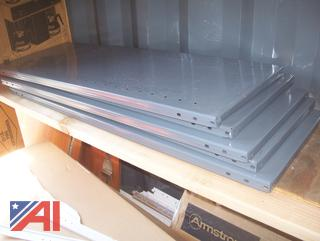 Gray Metal Shelving