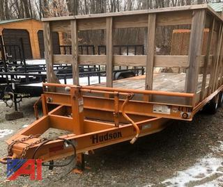 2016 Hudson Brothers HTMBK Flat Bed Trailer with Ramp