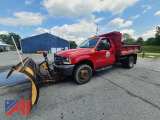 2004 Ford F550 Dump Truck with Plow