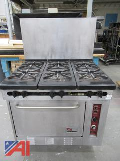 South Bend 6-Burner Gas Range with Convection Oven