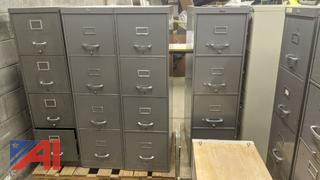 Metal Filing Cabinets and Chair