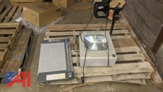 Overhead Projector & Paper Trimmer