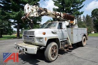 1994 Ford F800 Altec D990-43 BR Digger Derrick Truck