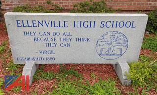 Ellenville High School Granite Sign
