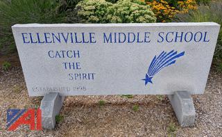 Ellenville Middle School Granite Sign
