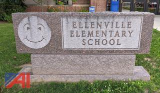 Ellenville Elementary School Granite Sign