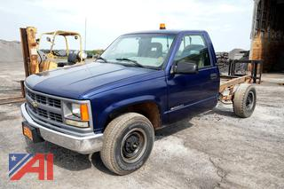 1995 Chevy C/K 2500 3/4 Ton Cab & Chassis Truck
