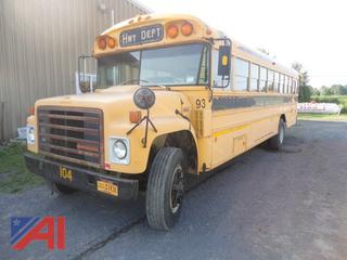 1987 International S1800 Blue Bird Bus