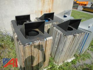 Trash Cans with Surrounds