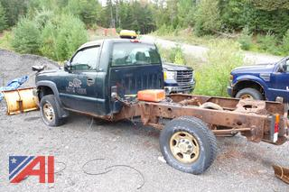 2005 Chevy Silverado 2500HD Cab and Chassis with Plow