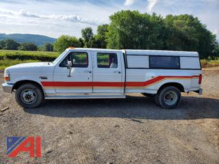 1992 Ford F350 Crew Cab Pickup Truck with Cap