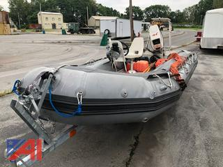 2001 Achilles SU16 Inflatable Boat with Trailer