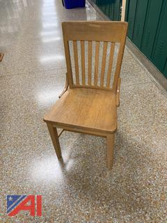 Wooden Library Chairs