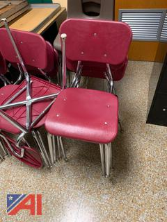 Red Hard Plastic Chairs