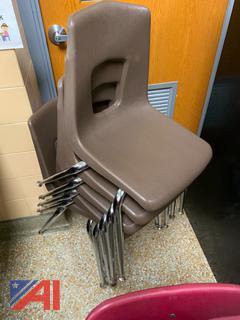 Brown Hard Plastic Chairs