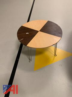 Small Circular Wooden Side Table
