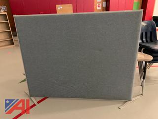 Blue Fabric Wall Divider