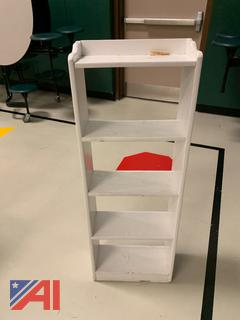 Small White Wooden Tiered Shelf
