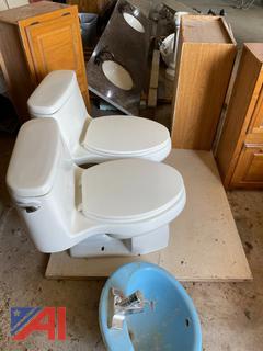 Toilets, Vanities, Countertops & Lights