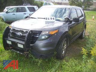 2013 Ford Explorer SUV/Police Vehicle (MPE500)