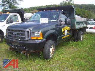 2001 Ford F350 XL Super Duty Dump Truck with Plow (344H)