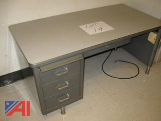 Teachers Desk with Power Cord and Plug-In Adapter