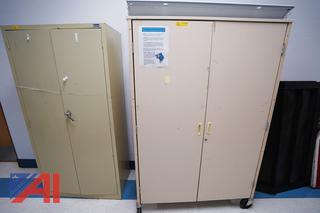 Assorted 2 Door Metal Storage Cabinets