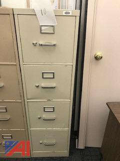 Hon 4-Drawer Beige File Cabinet