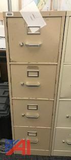 Hon Beige 4-Drawer Letter File Cabinet
