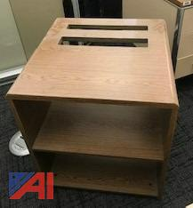 Wood Grain 2 Shelf Printer Stand