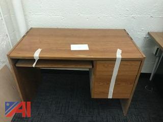 Wood Grain Small Computer Desk