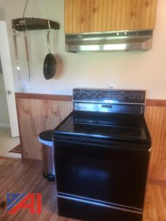 Whirlpool Electric Stove and Pot Rack