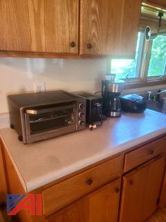 Toaster Oven, Toaster, Coffee Maker and Radio