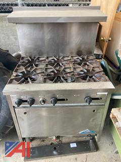 (#18) Castle 6 Burner Gas Cooking Range