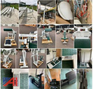 (#20) Various Fitness Equipment and Bleachers