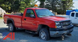 2004 Chevy Silverado 2500HD Pickup Truck with Plow