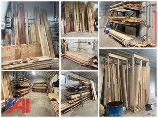 **UPDATED** Large Assortment Of Miscellaneous Wood Types And Sizes