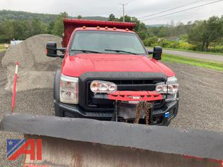 2015 Ford F550 Super Duty Extended Cab Dump Truck with Plow