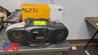 Infinity Car Speakers & GE Boombox