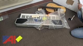 Casio Keyboard & Gremlin Guitar